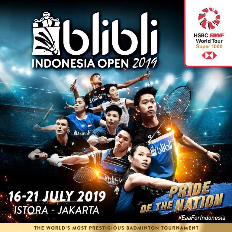 Indonesia OPEN 2019 live Stream Free and H2H results on Jul 16, 2019